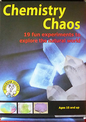 CHEMISTRY CHAOS SCIENCE KIT with 19 FUN EXPERIMENTS + 51 Page Colour Booklet