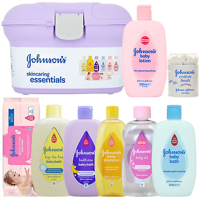 Johnson's Baby Skincare Vanity Case Lotion,bath,oil,shampoo,cotton Buds,wipes