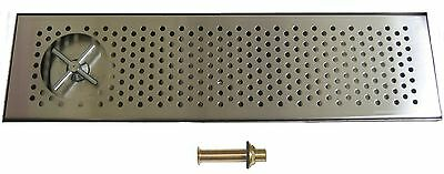 """Draft Beer RINSER Drip Tray 30""""  Taps  Keg- DTW-30SS-R"""