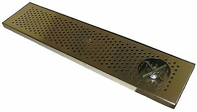"Draft Beer RINSER Drip Tray 36"" X 8"" w/ S.S. Grill 4"" metal drain - DTW-36SS-R"