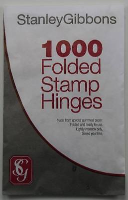 Stanley Gibbons Folded Stamp Hinges. Packs of 1000.