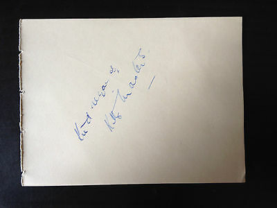 Kitty Masters - Big Band Singer - Signed Vintage Album Page