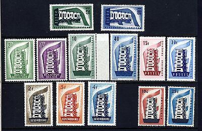 EUROPA 1956 The Complete First Europa Issues MNH Catalogue Value £380+