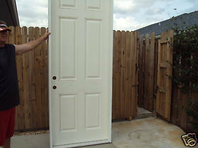 8 ft  door with frame PVC 37 3/8 96 5/8 entry WH house
