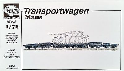 PLANET MODELS MV045 Eisenbahn Transportwaggon für Maus Panzer Resin Kit in 1:72