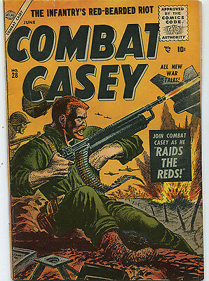 Combat Casey #28 VG/Fine June 1956  Casey Raids The Reds  All New Tales  CBX34