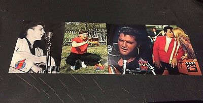ELVIS PRESLEY Collection PROMO 4 Card UNCUT STRIP 1992 River Group RARE The KING