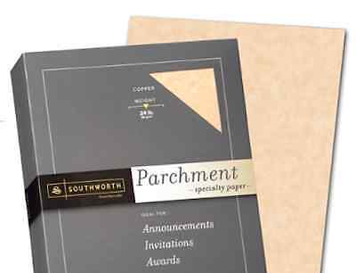 M00008-150 MOREZMORE Parchment Paper AGED 150 Sheets Heavy Certificate Blank