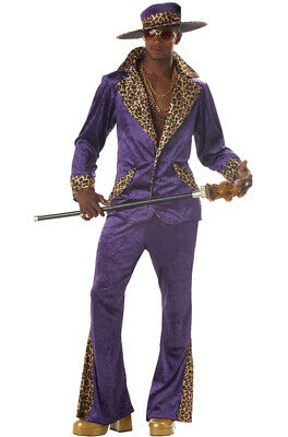 70s & 80s Sweet Daddy Pimp Mens Adult Costume