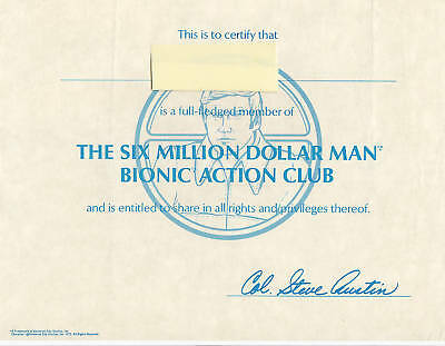Six Million Dollar Man Bionic Fan Club Photo Kit 1978
