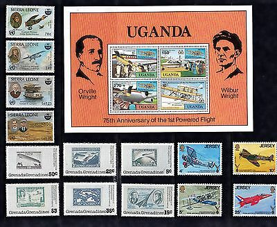 AIRCRAFT AVIATION Thematic STAMP Collection UNMOUNTED MINT c1980s  REF:TH568J