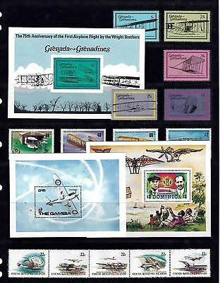 AIRCRAFT AVIATION Thematic STAMP Collection UNMOUNTED MINT c1980s REF:TH569J