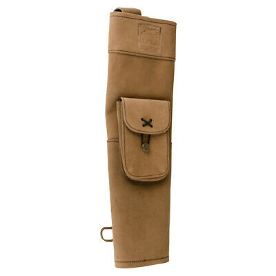 Bear Archery Lightweight Back Quiver - Traditional Leather Arrow Holder