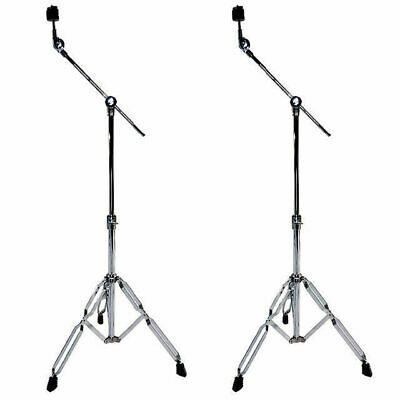 2 X Cymbal Boom Stand Heavy Duty Double Braced Crash China Splash DP Drums B3F