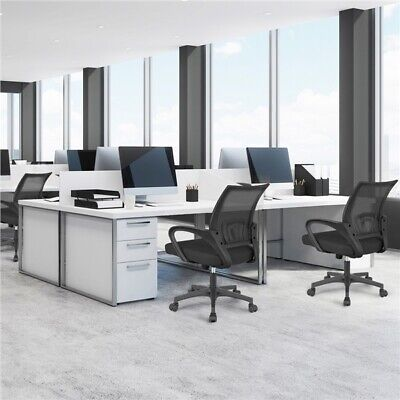 Ergonomic Mesh Office Chair Adjustable Workstation with Reclining Function