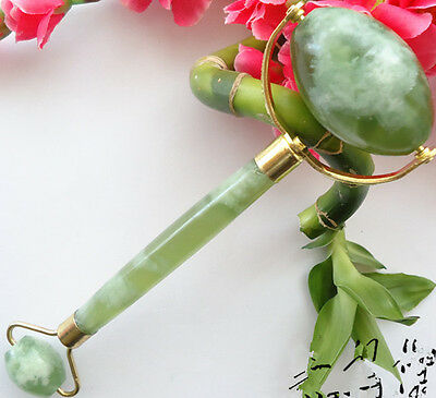 Natural cure reiki jade massager/ whole body massage Roller 6 inch