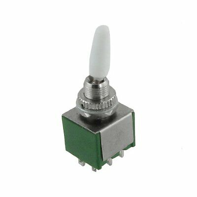 1 x AC 250V 2A White Handle 6 Pin DPDT ON/ON 2 Position Mini Toggle Switch