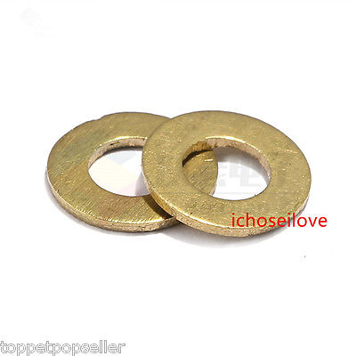 #10 Flat Solid Brass Flat Washers Commercial Standard Grade 360 Qty 500