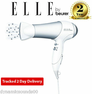 Elle Hair Dryer with Volume Diffuser HDE30 Ion Technology 3 Heat Levels