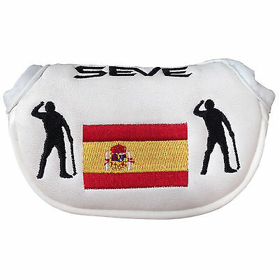Md Golf Seve Ballesteros Spain Mallet Putter Cover - New Headcover Spanish Flag