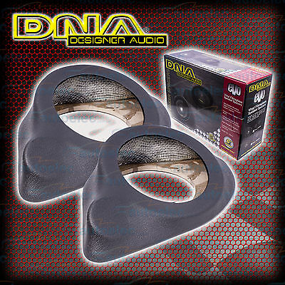 """Dna 152- 165Mm 6"""" -6.5"""" Car Audio Stereo System Speaker Spacer Pods Pair Grey"""