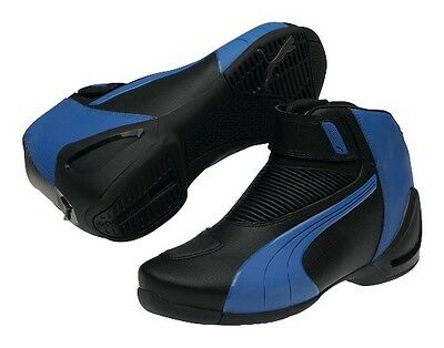PUMA Flat 2 v2 motorcycle shoes, black-blue, BRAND NEW LAST PAIRS IN STOCK!!!
