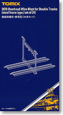TOMIX N Scale 3078 Overhead Wire Mast for Double Tracks (Steel Frame Type/24pcs)