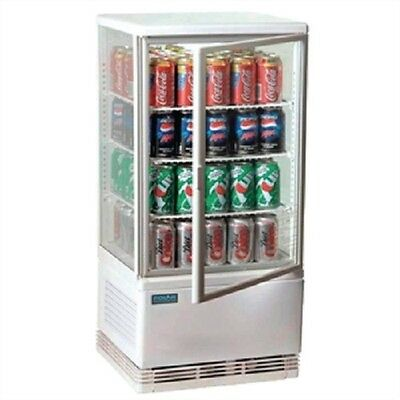 Polar Countertop Chilled Display Cabinet White 68 Ltr - G619 Commercial Fridge