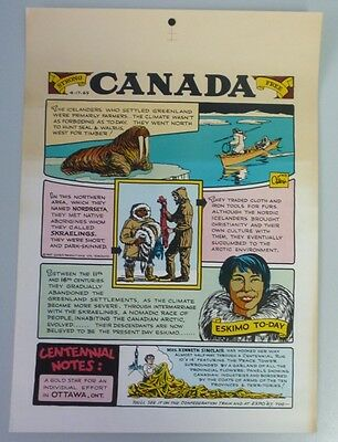 Lot of 8 Rare 1965 Strong Canada Illustrated Strip Advertising Broadsides