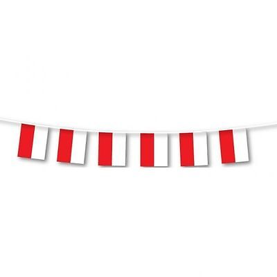 Poland Polish Eurovision Song Contest Flag Party Bunting 3m Decoration - 994001