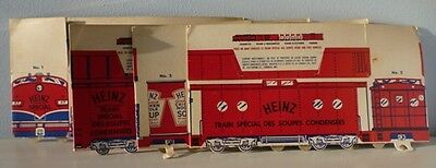 Very Rare 1950's Heinz Canada Ltd. Premium Cardboard Train Set