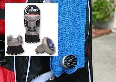 Groovy Brush Golf Towel Attachment Golf Club Groove Cleaner Attaches To Towel!