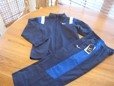 Boy's Nike active hoodie pants jacket 2 T $48 mesh navy track suit elastic NEW