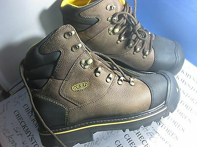 NIB KEEN Men's Milwaukee WP Industrial Steel Toe Waterproof Work Boots 1007976
