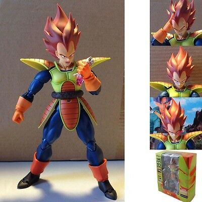 "Dragonball Z Super Saiyan Vegeta 15cm/6"" PVC Action Figure New In Box"