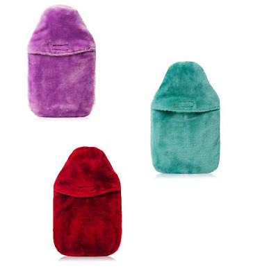Coronation Hot water Bottle in Fur Cover in various colors