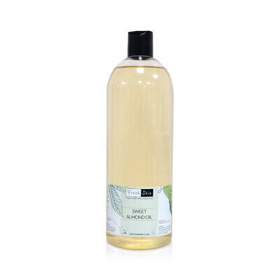 1 Litre Sweet Almond Oil (1000ml) - 100% Pure & Natural Cold Pressed Carrier Oil