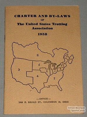 1958 U.S.Trotting Association Charter and By-Laws