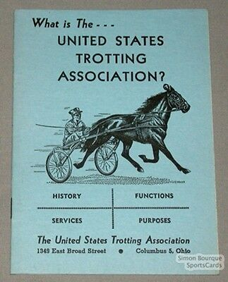 Orig. 1955 What Is The U.S. Trotting Association Book