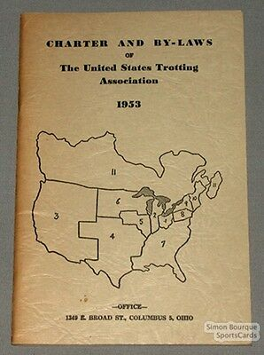 Orig. 1953 U.S.Trotting Association Charter and By-Laws