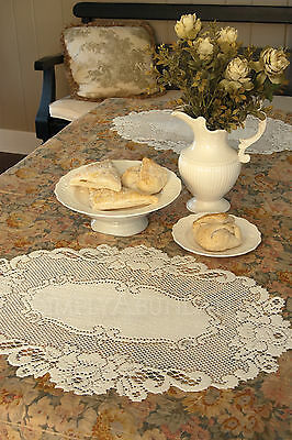 Vintage Rose Placemat by Heritage Lace, 14x20, Ecru or White, Victorian Style