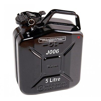 Jerry Can 5 L Litre Metal Fuel Diesel Gasoline Petrol Oil Black Kerosene Army