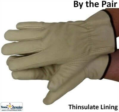 Premium Pigskin Full Leather Work Glove with Thinsulate Lining - Pair