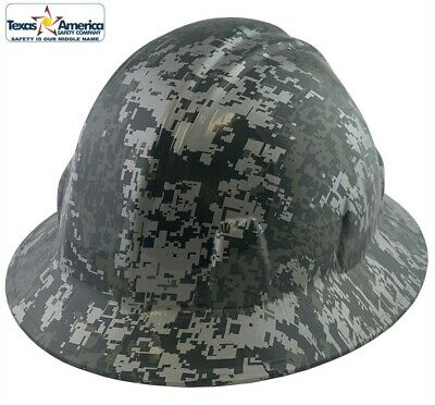 Hydro Dipped Full Brim Hard Hat with Ratchet Suspension - Digital Camo Design