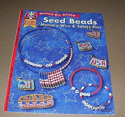 Craft Leaflet Seed Beads Memory Wire & Safety Pins Design Originals 2001