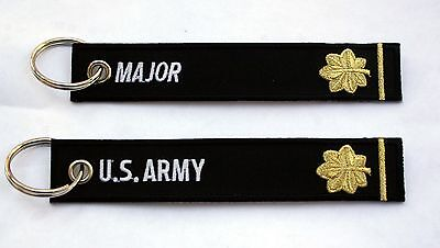 Us Army Major Key Chain Officer Rank Millitary American Wow!