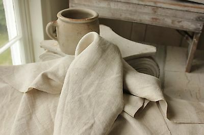 FRENCH LINEN BOLT antique CUTTING fabric DAMAGED per 3 YARD length 29 WIDE !