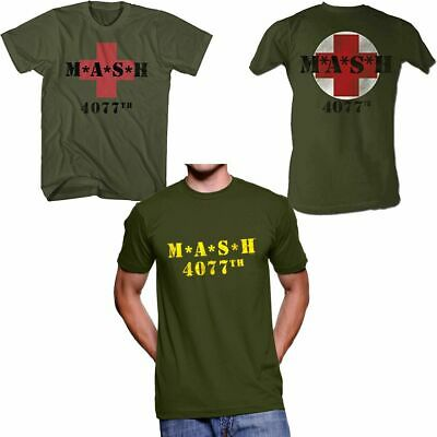 CHOOSE Adult TV Show Mash M*A*S*H Military Army Medic Team Green T-Shirt Tee