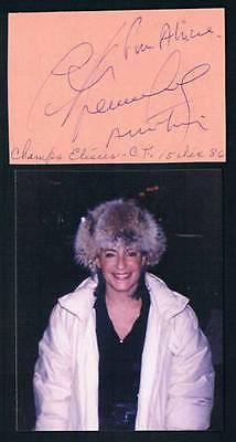 1986 Original French Violonist And Singer Catherine Lara Signed Cut Square
