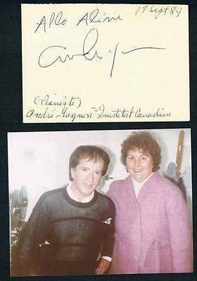 1984 Original Canadian Composer And Conductor Andre Gagnon Signed Cut Square